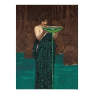 Circe Invidiosa by Waterhouse Pre-Raphaelite 5.5x7.5 Paper Invitation Card