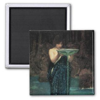 Circe Invidiosa by Waterhouse, Vintage Victorian Fridge Magnets