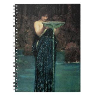 Circe Invidiosa by Waterhouse, Vintage Victorian Notebook