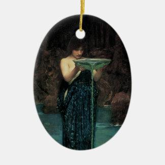 Circe Invidiosa by Waterhouse, Vintage Victorian Ornaments