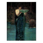 Circe Invidiosa by Waterhouse, Vintage Victorian Postcard