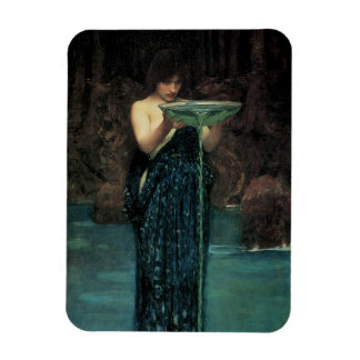 Circe Invidiosa by Waterhouse, Vintage Victorian Rectangle Magnets