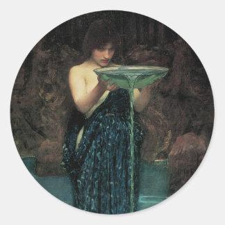 Circe Invidiosa by Waterhouse, Vintage Victorian Sticker