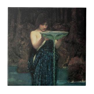 Circe Invidiosa by Waterhouse, Vintage Victorian Tile