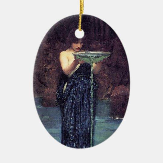 Circe Invidiosa - Circe with a Ponseive Bowl Ceramic Ornament
