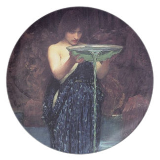 Circe Invidiosa - Circe with a Ponseive Bowl Melamine Plate