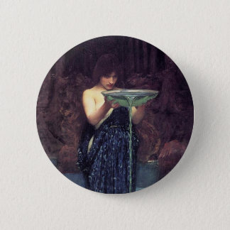 Circe Invidiosa - Circe with a Ponseive Bowl Pinback Button
