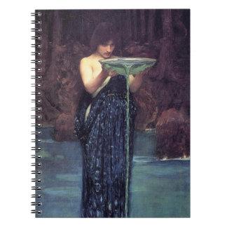 Circe Invidiosa - Circe with a Ponseive Bowl Spiral Notebook
