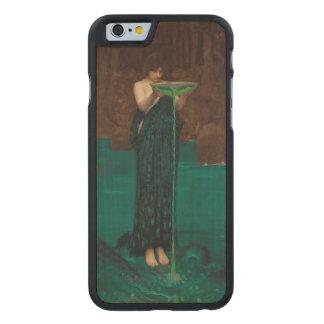 Circe Invidiosa de John William Waterhouse Funda De iPhone 6 Carved® De Arce