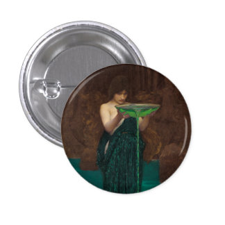 Circe Invidiosa de John William Waterhouse Pin Redondo 2,5 Cm
