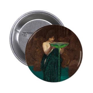Circe Invidiosa de John William Waterhouse Pin Redondo 5 Cm