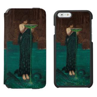 Circe Invidiosa de John William Waterhouse Funda Cartera Para iPhone 6 Watson