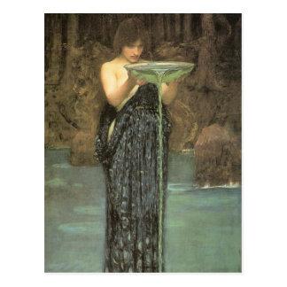 CiRCE INViDiOSA, J W Waterhouse 1892 Postcard