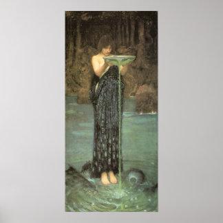 Circe Invidiosa - John William Waterhouse Impresiones