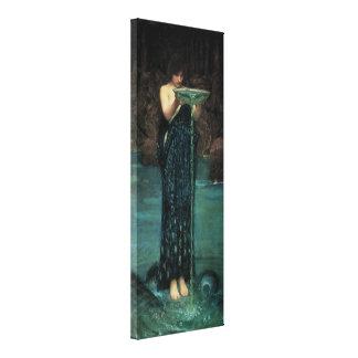 Circe Invidiosa por el Waterhouse, Victorian del Impresiones En Lienzo Estiradas