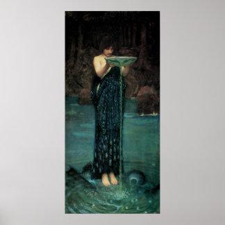 Circe Invidiosa por el Waterhouse, Victorian del Póster