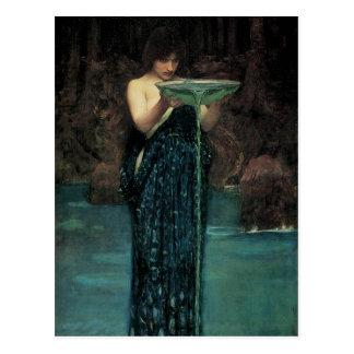 Circe Invidiosa por el Waterhouse Victorian del Postal