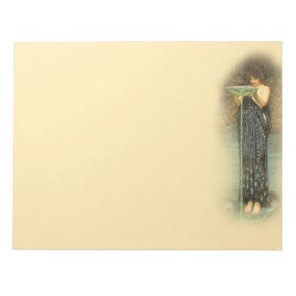 Circe Invidiosa Pre-Raphaelite 11X8.5 inch Notepad