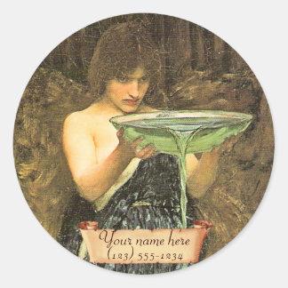 Circe Invidiosa Pre-Raphaelite Bookplate Stickers