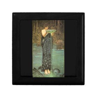 Circe Invidiosa Pre-Raphaelite Lacquered Box Keepsake Box