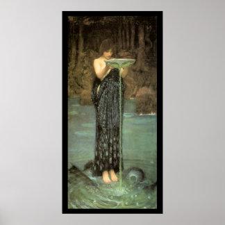 """""""Circe Invidiosa"""" Pre-Raphaelite Poster"""
