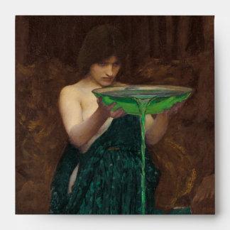 Circe Invidiosa Waterhouse Fine Art Painting Envelope