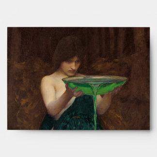 Circe Invidiosa Waterhouse Pre-Raphaelite Art Envelope