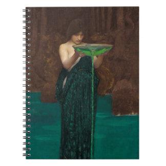 Circe Invidiosa Waterhouse Spiral Notebook