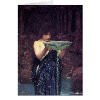 Circe Invidious - Circe with a Ponseive Bowl Greeting Card
