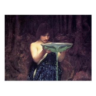 Circe Invidious - Circe with a Ponseive Bowl Postcard
