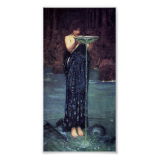 Circe Invidious - Circe with a Ponseive Bowl Poster