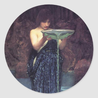 Circe Invidious - Circe with a Ponseive Bowl Classic Round Sticker