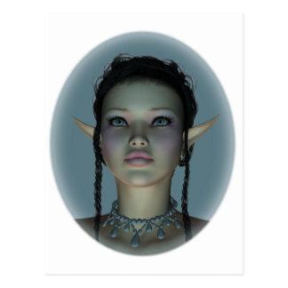 Circe Nymph Snow Queen Profile Postcard