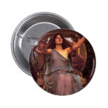 """""""Circe Offering the Cup to Odysseus"""" 2 Inch Round Button"""