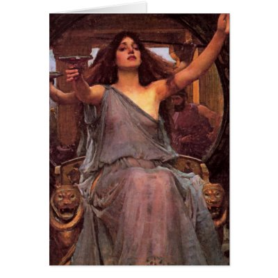 """""""Circe Offering the Cup to Odysseus"""" Cards"""