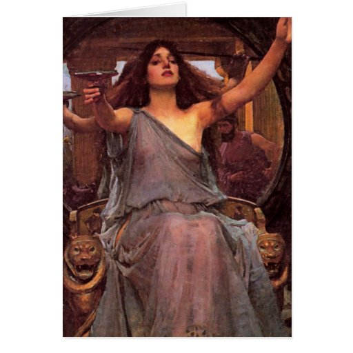 """""""Circe Offering the Cup to Odysseus"""" Card"""