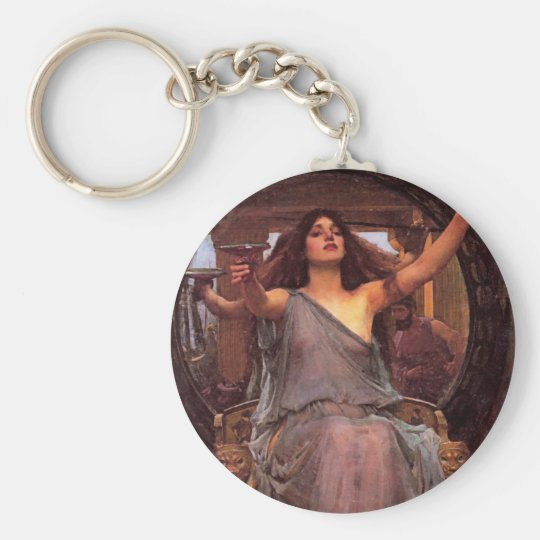 """""""Circe Offering the Cup to Odysseus"""" Keychain"""