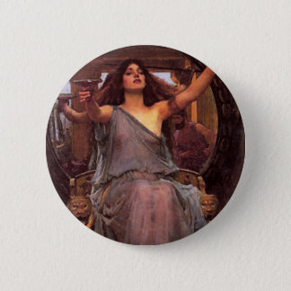 """Circe Offering the Cup to Odysseus"" Pinback Button"