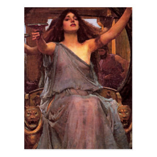"""Circe Offering the Cup to Odysseus"" Postcard"