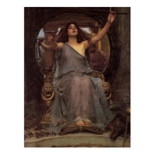 Circe Offering the Cup to Odysseus Postcard