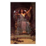 """""""Circe Offering the Cup to Odysseus""""  Poster"""