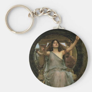 Circe Offering the Cup to Ulysses by JW Waterhouse Basic Round Button Keychain