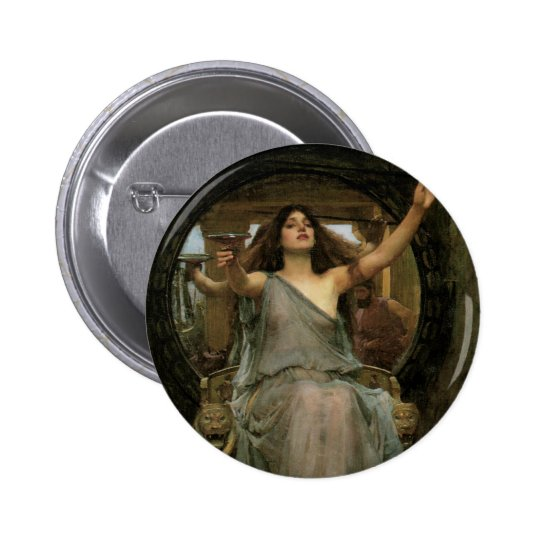 Circe Offering the Cup to Ulysses by JW Waterhouse Button