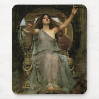Circe Offering the Cup to Ulysses by JW Waterhouse Mouse Pad