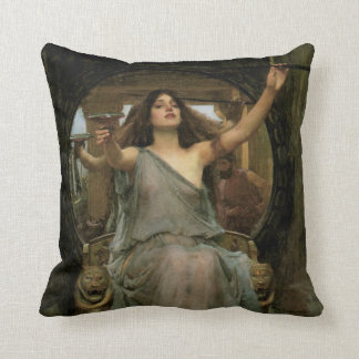 Circe Offering the Cup to Ulysses by JW Waterhouse Throw Pillow
