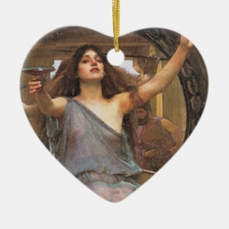CiRCE OFFERiNG the CuP to ULYSSEs Ceramic Ornament