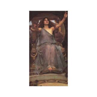 Circe Offers a Cup to Ulysses Canvas Print