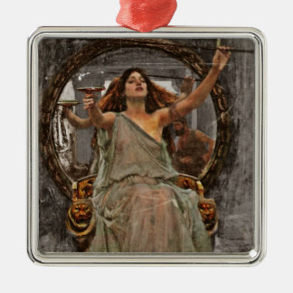 Circe Offers Cup to Ulysses Square Metal Christmas Ornament
