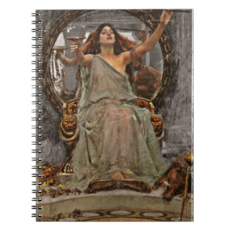 Circe Offers Cup to Ulysses Spiral Notebook