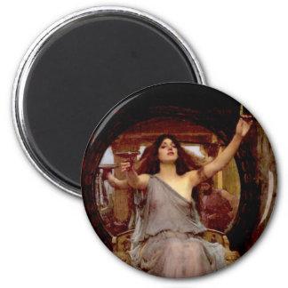 Circe que ofrece la taza a Odiseo - imán redondo